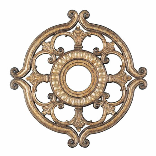 Ceiling Medallion in Vintage Gold Leaf