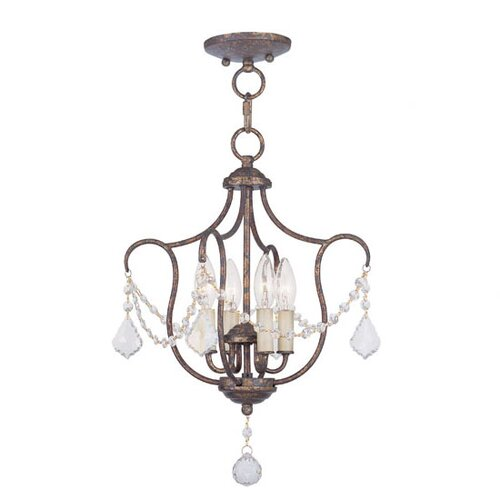Livex Lighting Chesterfield 4 Light Pendant