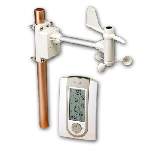 Taylor Precision Products Wireless Weather Station Wall Clock