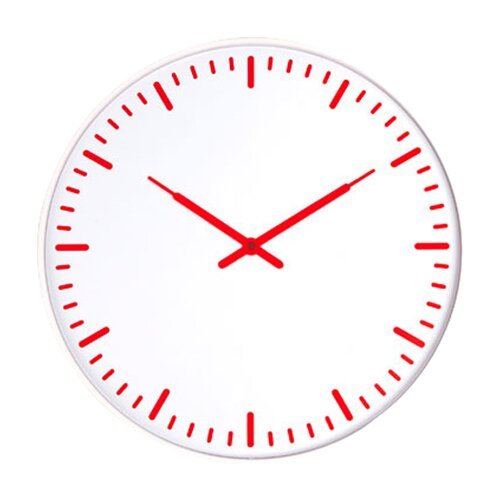 "Kikkerland 15"" Ultra Flat Swiss Station Wall Clock"