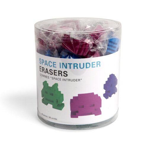 Kikkerland Space Intruder Erasers