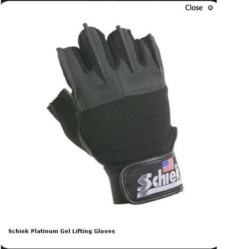 Schiek Sports, Inc. Platinum Gel Lifting Gloves in Black