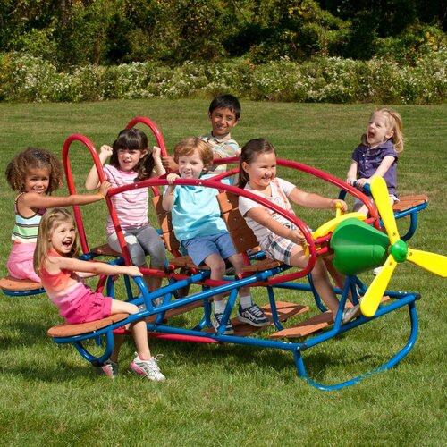 Swing Town Airplane 7 Seat Teeter Totter