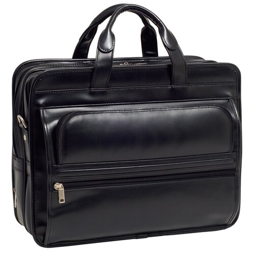McKlein USA P Series Elston Leather Laptop Briefcase