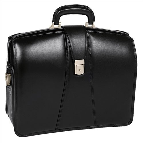 McKlein USA V Series Harrison Partners Leather Laptop Briefcase