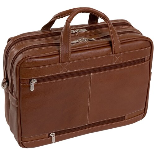 S Series Irving Park Leather Laptop Briefcase