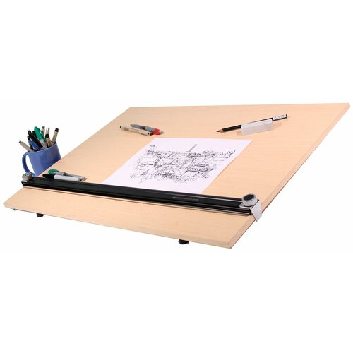Martin Universal Design Pro Draft PEB Wood Grain Drawing Table Kit