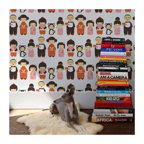 Aimee Wilder Designs Kokeshi Wallpaper