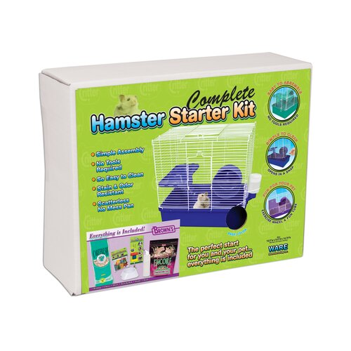 Ware Mfg Home Sweet Home Hamster Cage Starter Kit