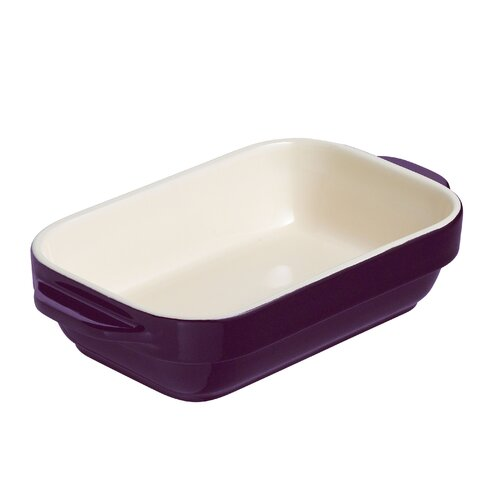 Raymond Blanc Mulberry and Cream Stoneware 18cm Rectangular Dish