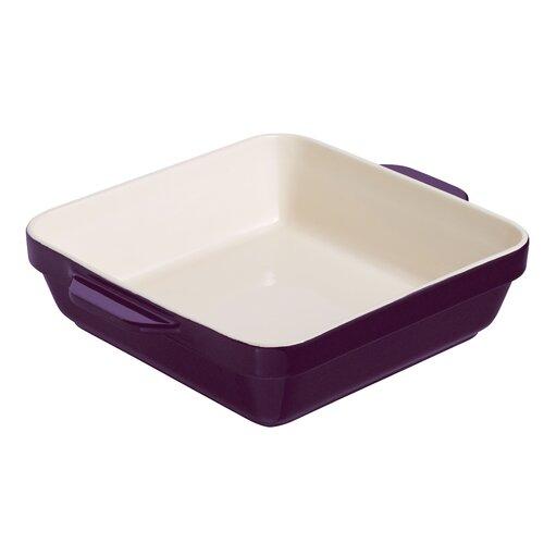 Raymond Blanc Mulberry and Cream Stoneware 25cm Square Dish Try Me