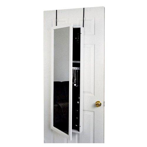 Mirrotek Over The Door Jewelry Armoire Mirror Cabinet In Black