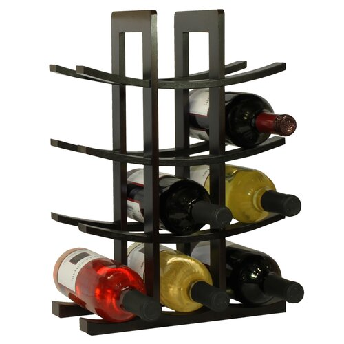 Oceanstar Design Bamboo 12 Bottle Tabletop Wine Rack