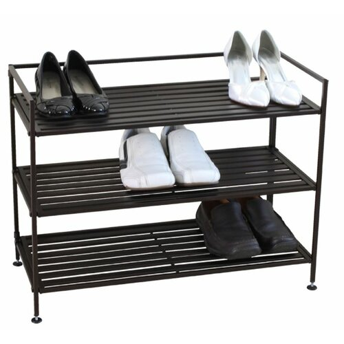 3 Tier Stackable Metal Shoe Storage Shelf
