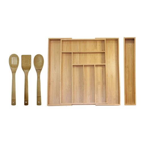 Oceanstar Design 5-Piece Expandable Drawer Utensil Organzier Set