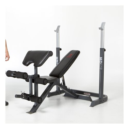 2 Piece Mid Adjustable Olympic Bench