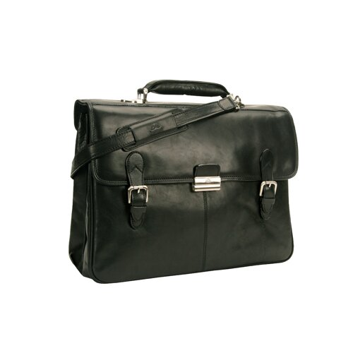 Tony Perotti Green Classic European Leather Briefcase