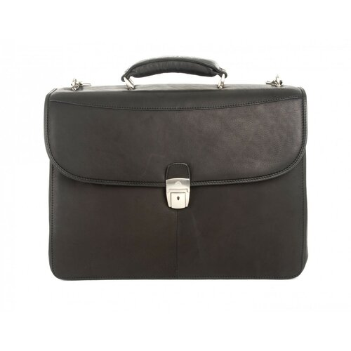 Contatto Milano Double Gusset Laptop Leather Briefcase