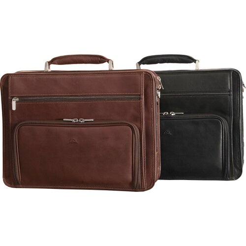 Tony Perotti Green CUltimo Leather Laptop Briefcase