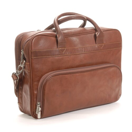 Green Aldo Around Leather Laptop Briefcase