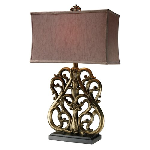"Dimond Lighting Roseville 30"" H Table Lamp with Rectangle Shade"
