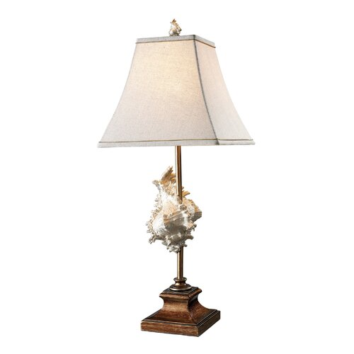"""Dimond Lighting Delray 30"""" H Table Lamp with Square Shade"""