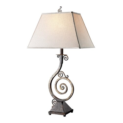 "Dimond Lighting Biscayne 37"" H Table Lamp with Square Shade"