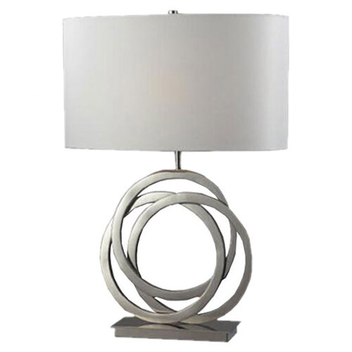 """Dimond Lighting Trinity 25"""" H Table Lamp with Drum Shade"""