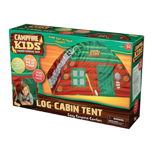 Insect Lore Campfire Kids Log Cabin Tent