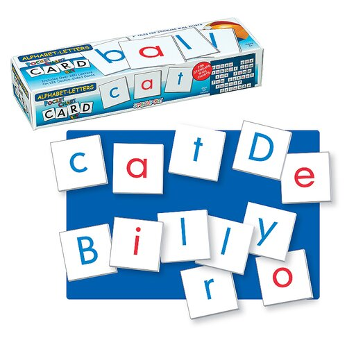 Patch Products Alphabet Letters Wall Pocket Chart Card Set