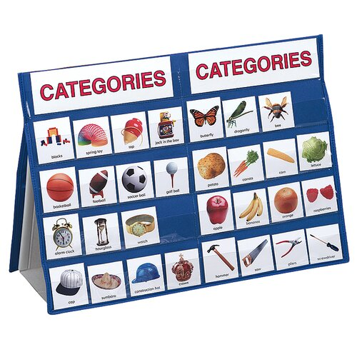 Categories Tabletop Pocket Chart