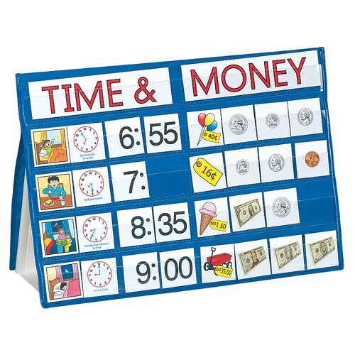 Time and Money Tabletop Pocket Chart