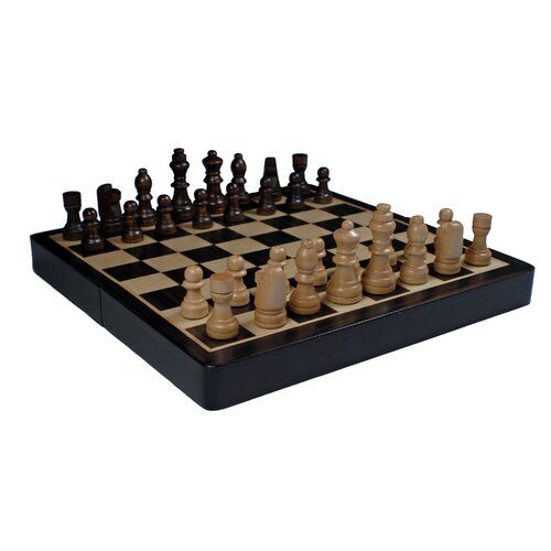 "Wood Expressions 8"" Travel Magnetic Chess Set"