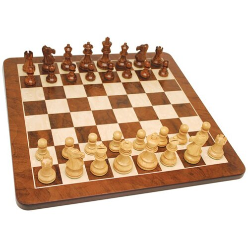 "Wood Expressions 19"" Root Chess Set in Walnut"