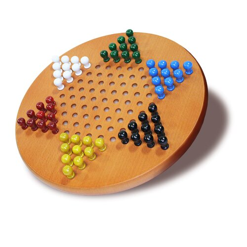 "Wood Expressions 11"" Chinese Checkers Set"