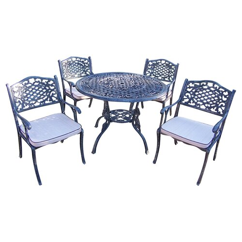 Oakland Living Tea Rose Dining Set with Cushions