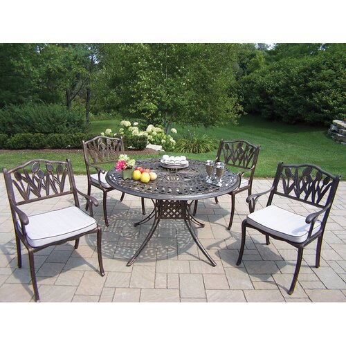 Oakland Living Capitol Tulip Dining Set with Cushions