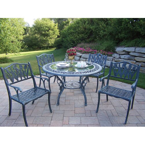 Oakland Living Mississippi Tulip 5 Piece Dining Set