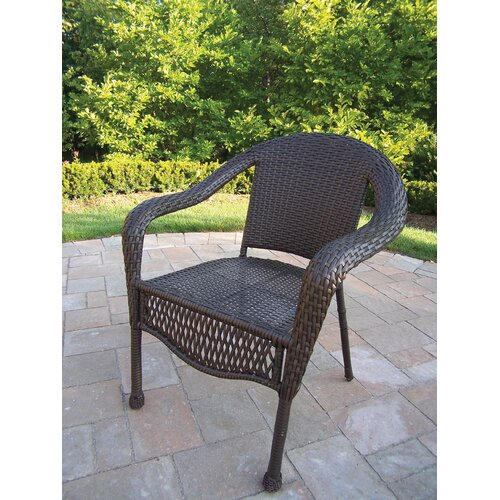 Oakland Living Elite Resin Wicker Chair (Set of 4)