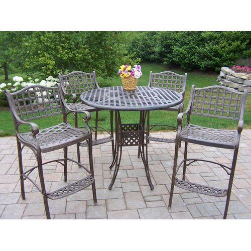 Oakland Living Elite 5 Piece Bar Height Set