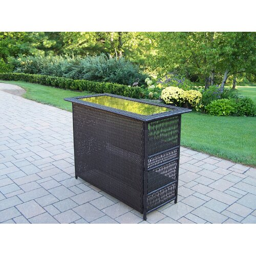 Elite Resin Wicker Bar Table