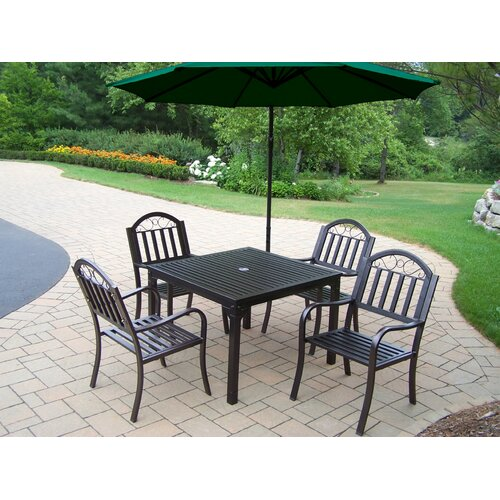 Oakland Living Rochester Dining Set with Umbrella