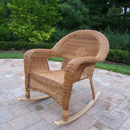 Oakland Living Resin Wicker Rocker (Set of 2)