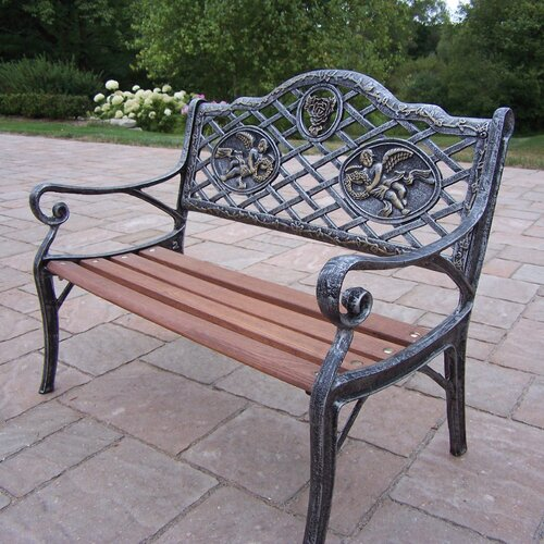 Angel Kiddy Wood And Cast Iron Park Bench Wayfair