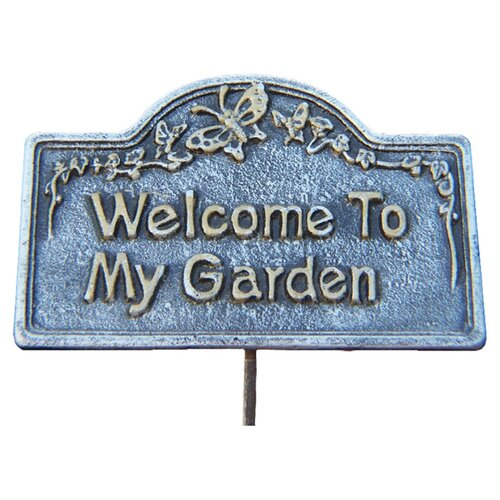 Oakland Living Welcome To My Garden Sign