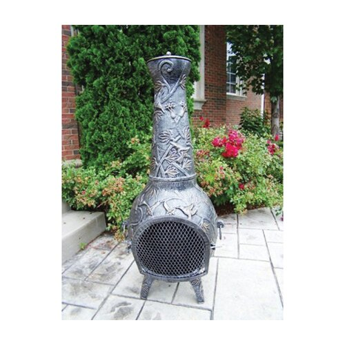 Oakland Living Cast Iron Leaf Chimenea