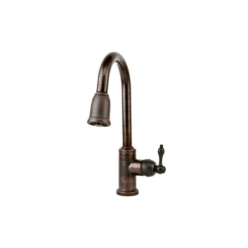Premier Copper Products Hammered Single Basin Kitchen Sink with ORB Pull Down Faucet, Drain and Accessories