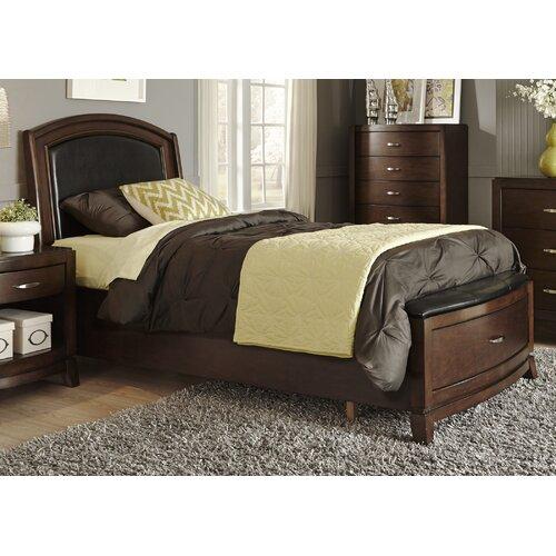Leather Upholstered Storage Platform Bed