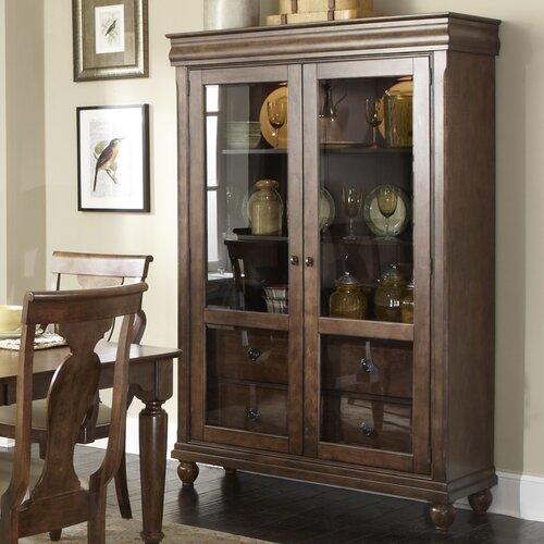 rustic china cabinet wayfair. Black Bedroom Furniture Sets. Home Design Ideas