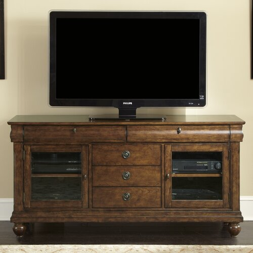 Rustic traditions tv stand wayfair for Furniture 65
